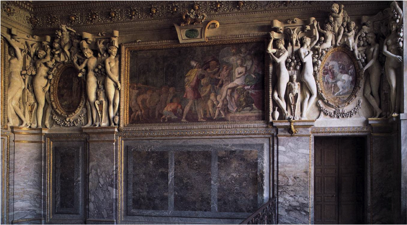 Francesco Primaticcio - штукатурка - 1530 - (Apartments of the Duchesse d'Étampes (Fontainebleau, France))