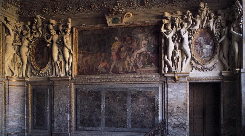 Francesco Primaticcio - штукатурка - 1530 - (Apartments of the Duchesse d'Étampes (Fontainebleau, France))