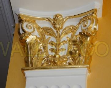 Фото №4 Образец декорирования и золочения элементов интерьера - 1